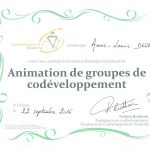 Attestation de formation au codeveloppement professionnel - Anne-Laure Delpech