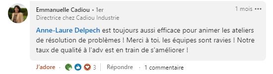 Emmanuelle Legault commente une formation d'Anne-Laure Delpech